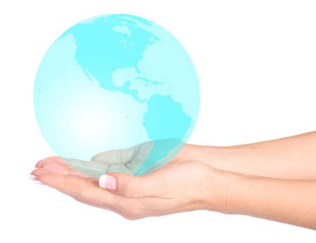 el mundo en tus manos: Emeraldthe mundo est� en sus manos m�s de fondo blanco