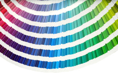 Closeup view of a color chart used for paint selection