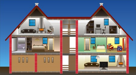 vector house - This image is a vector illustration and can be scaled to any size without loss of resolution