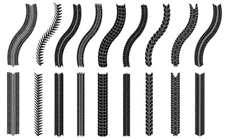 illustration of tires - This image is a vector illustration and can be scaled to any size without loss of resolution Illustration