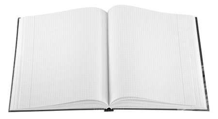 Blank Notepad isolated. Ready for your message. photo