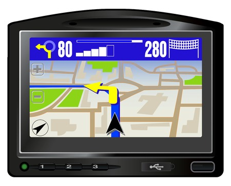 Modern GPS. This image is a vector illustration