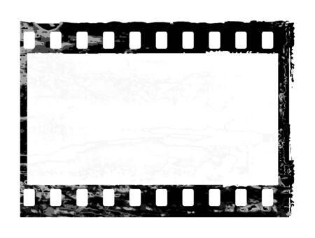 Aged vector illustration of a grunge filmstrip frame. Illustration