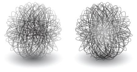 garabatear bolas icono círculo con una gota de sombra