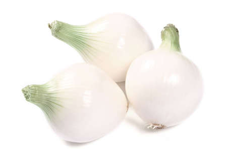 Fresh onions isolated on a white background photo