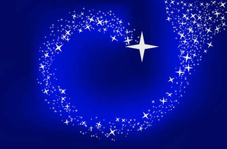 Blue background with stars. illustration and can be scaled to any size without loss of resolution illustration