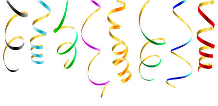 Party streamers. This image is a vector illustration and can be scaled to any size without loss of resolution