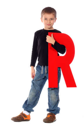 letter r: Letter R  - See all letters in my Portfolio Stock Photo