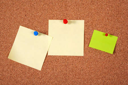 Paper on an isolated cork notice board. Stock Photo - 6261288