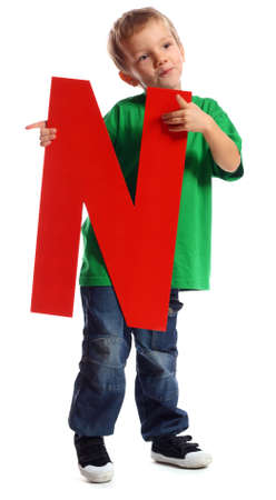 Boy holding letter