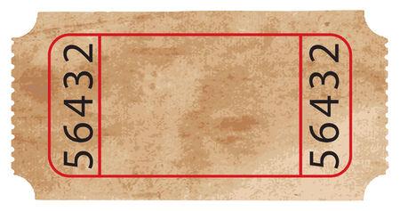 Ticket. Dieses Bild ist eine Illustration und kann auf jede beliebige Größe ohne Verlust der Auflösung skaliert werden