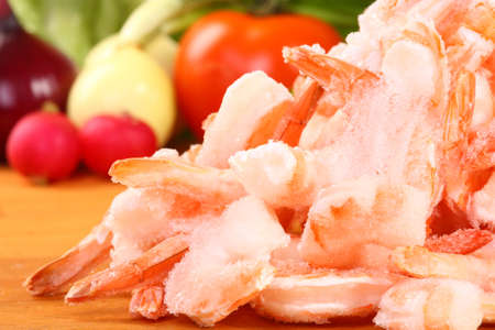 frozen shrimp on the stack for food backgrounds Stock Photo - 8606371