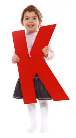 Letter K girl - See all letters in my Portfolio  photo