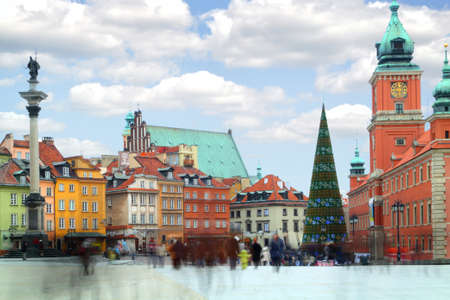 warsaw: Old Town in Warsaw - the capital of Poland.  Stock Photo
