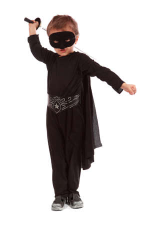 Young boy dressed in Zorro halloween costume  Stock Photo - 11917118