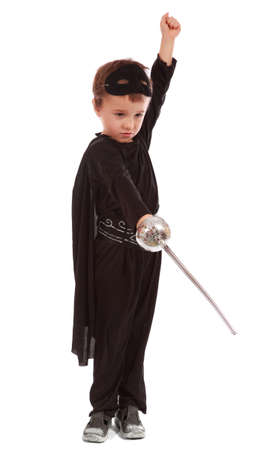 Young boy dressed in Zorro halloween costume  Stock Photo - 11917119