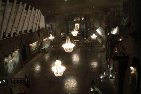 Kaple svaté Kingy v solném dole Wieliczka Reklamní fotografie