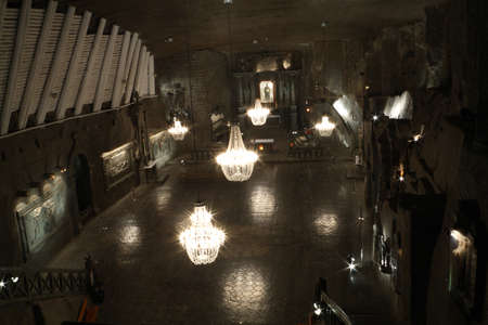 The Chapel of Saint Kinga in Salt mine Wieliczka