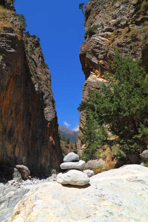 In the famous Samaria Gorge at Crete Island in Greece