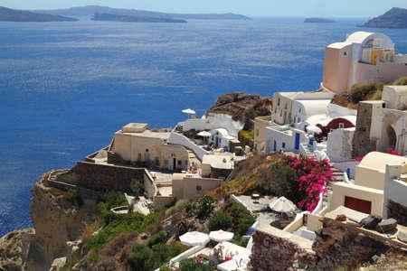 Traditional village of Oia at Santorini island in Greece  Standard-Bild