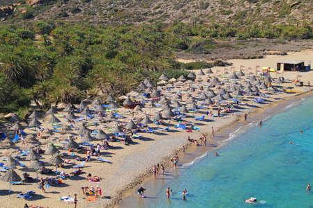 Vai beach at Crete island in Greece Editorial