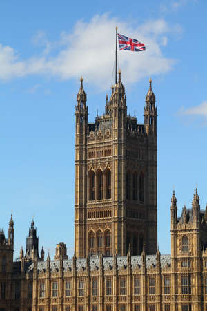 London, United Kingdom - Palace of Westminster  Houses of Parliament  with Big Ben clock tower