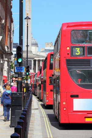 LONDON - Red double decker buses have become an icon of Britain and are a major tourist attraction in themselves