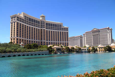 hotel casino: Luxury hotel Bellagio in Las Vegas, USA