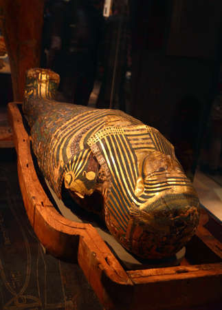 Egyptian Sarcophagus in the British Museum in London, England