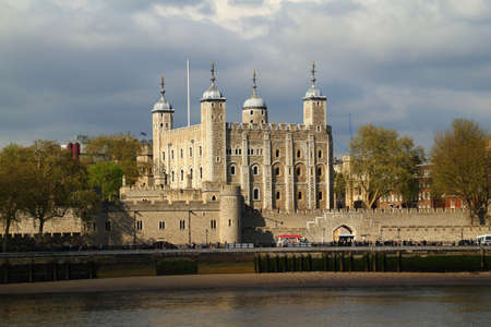 Tower of London with cloudy sky in May 2012