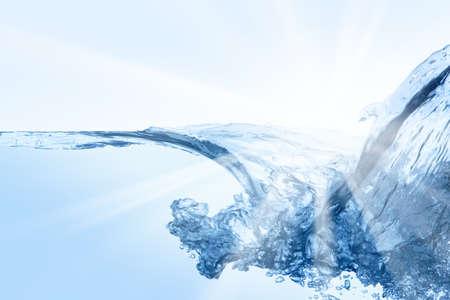 Water splash. Close up of splash of water. Standard-Bild