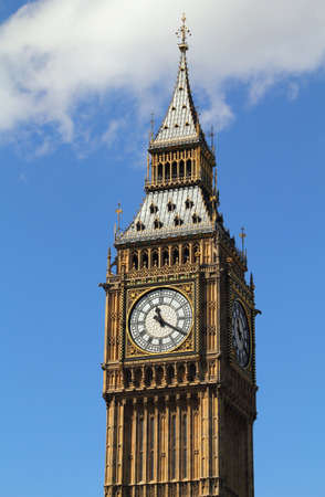 London, United Kingdom - Palace of Westminster (Houses of Parliament) Big Ben clock tower