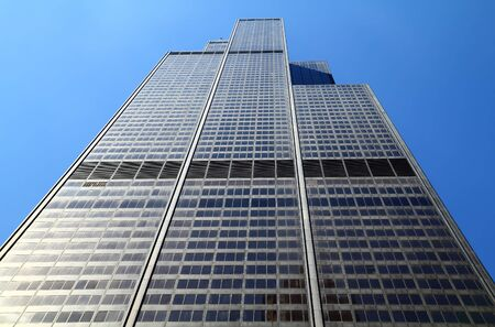 CHICAGO, IL - MAY 4: Willis Tower, 108 floors (formerly named Sears Tower until 2009) was the tallest building in the world for nearly 25 years when built in 1973, Chicago, May 4, 2011.  Editorial
