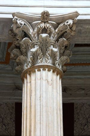 roman columns close up - Roma Italy Standard-Bild