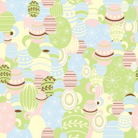 Easter background, vector - recurrent  Illustration