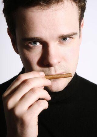 Smoking man photo