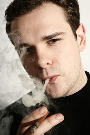 Smoking man Stock Photo - 2628694