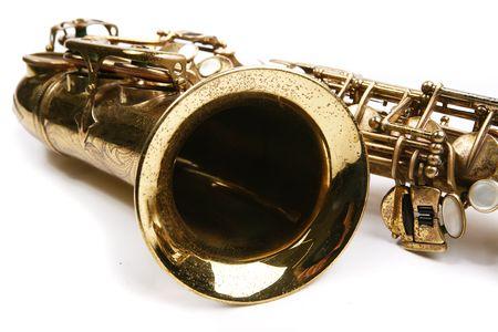 vibrate: Saxophone. Musical instrument Stock Photo