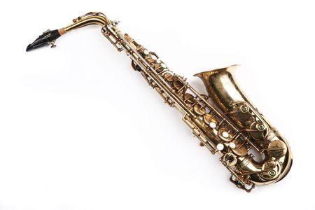 El saxofón. Instrumento musical  Foto de archivo - 2738877