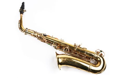 Saxophone. Musical instrument photo