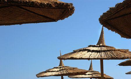 sunshades: Sunshades on the beach