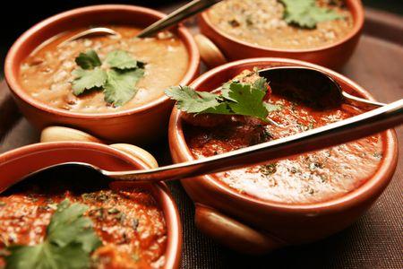 curry: Pakist�n oriental comida en el restaurante Foto de archivo