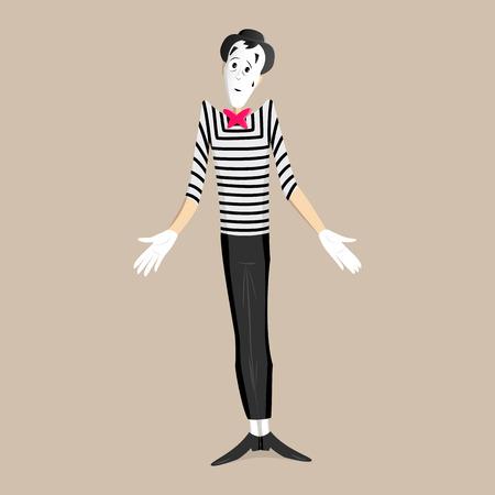 pantomima: Un Mime realizar una pantomima llamada encogi�ndose de hombros
