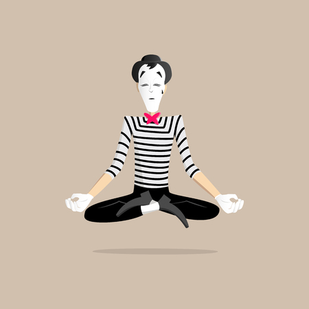 france painted: A Mime performing a pantomime called meditation