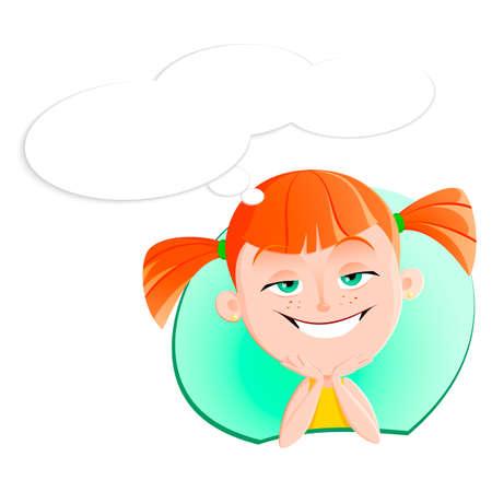 Girl face emotion expression avatar