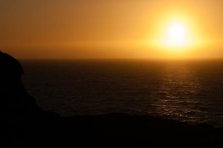 オレゴン州の海岸沿いの日没。