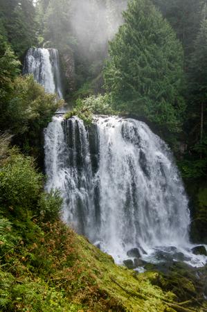 wilderness area: Marion Falls and Gatch Falls.  Mount Jefferson Wilderness Area, Oregon.