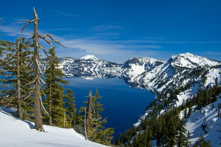 crater lake: Crater Lake from Discovery Point. Crater Lake National Park, Oregon.