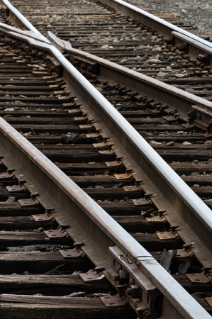 Tracks - Railroad track at a switch.