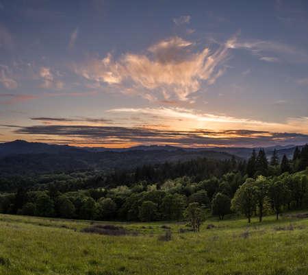 Sunset at Fitton Green Natural Area, Corvallis, Oregon
